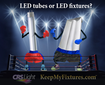 LED tubevs. led light troffer