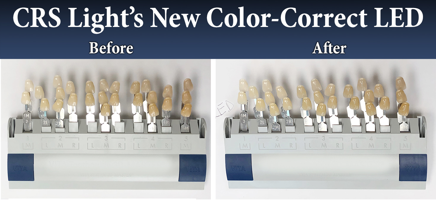 fluorescent and LED light comparison photos